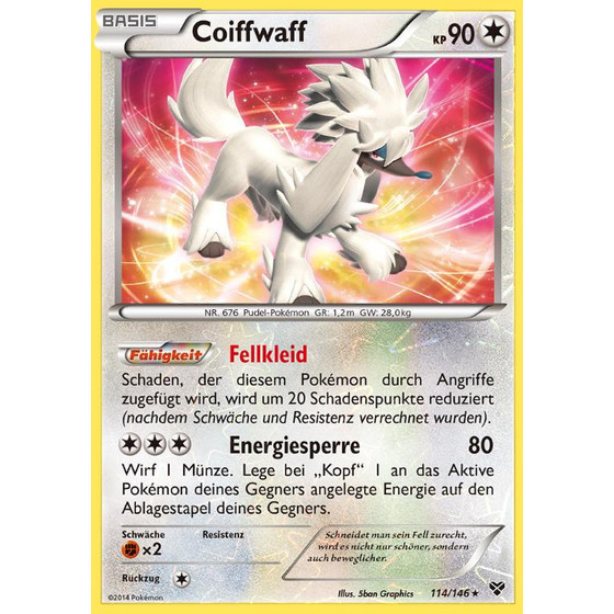 Coiffwaff - 114/146 - Reverse Holo