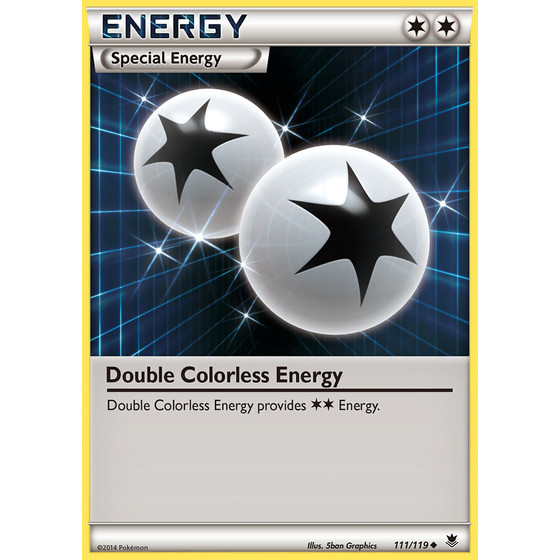 Double Colorless Energy - 111/119 - Reverse Holo