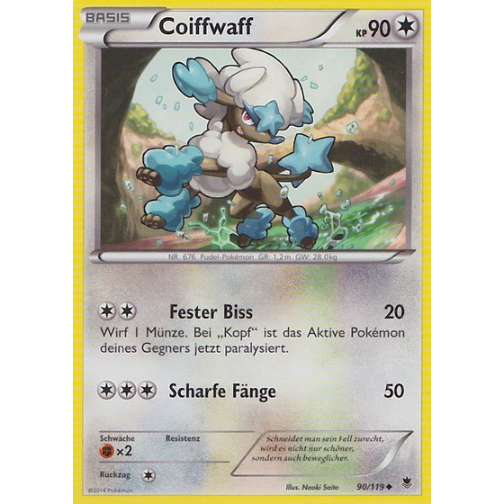 Coiffwaff - 90/119 - Reverse Holo
