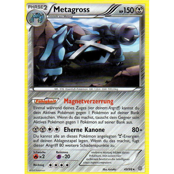 Metagross - 49/98 - Reverse Holo