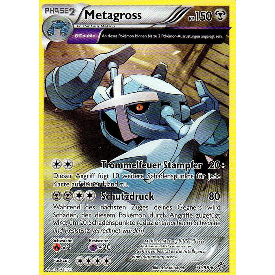 Metagross - 50/98 - Reverse Holo