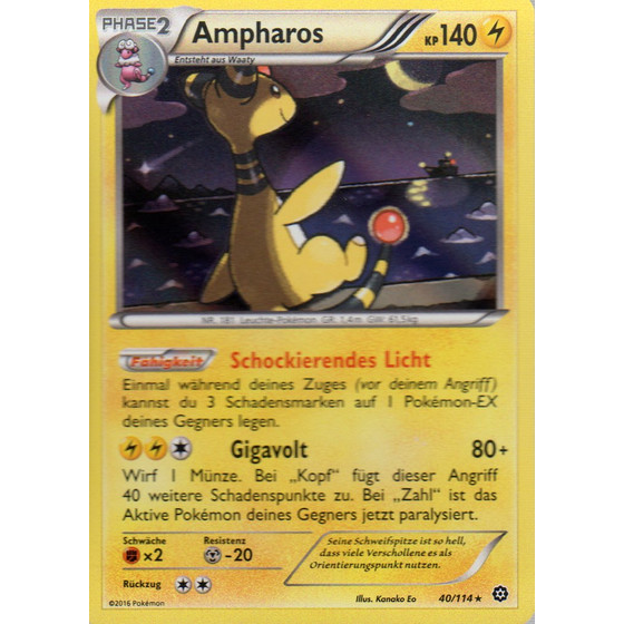 Ampharos - 40/114 - Reverse Holo