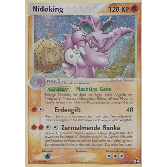 Nidoking - 8/112 - Holo - Good