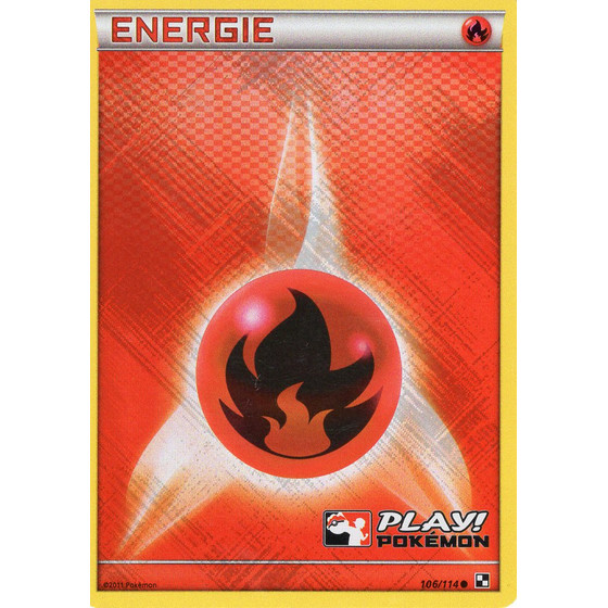 Fire Energy - Black & White - Holo