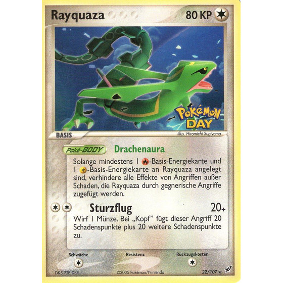 Rayquaza - 22/107 Pokemon Day - Promo