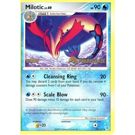 Milotic - 70/147 - Prerelease Promo - STAFF