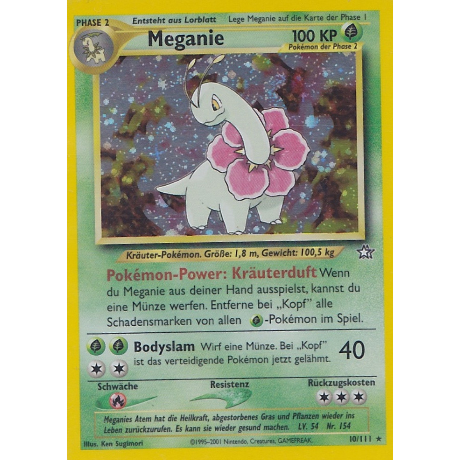 Holo deutsch Pokemon Neo Genesis 10/111 Meganie