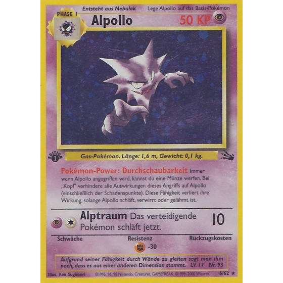 Alpollo - 6/62 - Holo 1st Edition