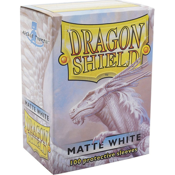 Dragon Shield Matte White - 100 Sleeves
