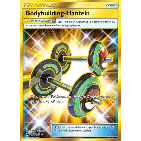 Bodybuilding-Hanteln - 161/147 - Shiny