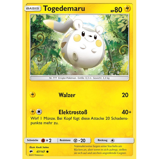 Togedemaru - 47/147 - Reverse Holo