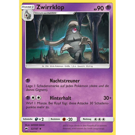 Zwirrklop - 52/147 - Reverse Holo