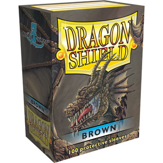Dragon Shield Brown - 100 Sleeves