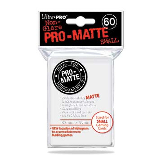 Ultra Pro Pro Matte Small White - 60 Sleeves