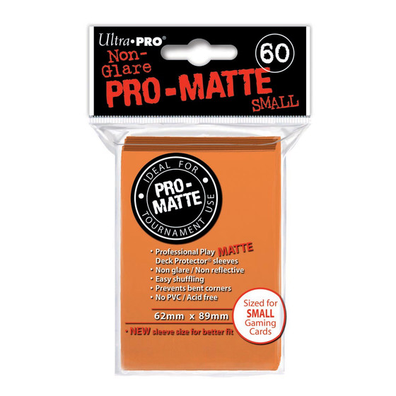 Ultra Pro Pro Matte Small Orange - 60 Sleeves