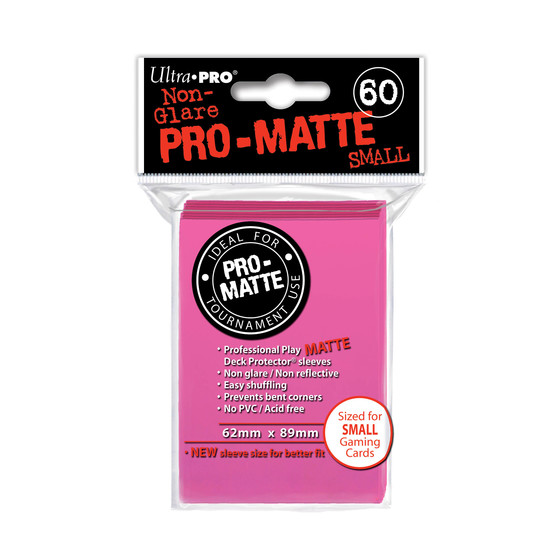 Ultra Pro Pro Matte Small Bright Pink - 60 Sleeves