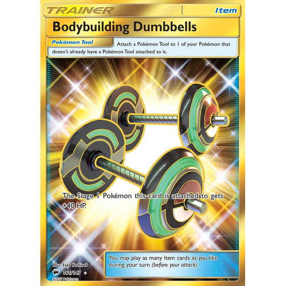 Bodybuilding Dumbbells - 161/147 - Shiny