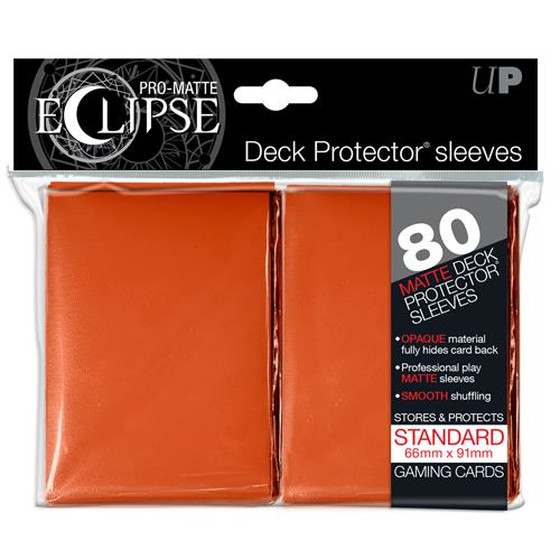 Ultra Pro Eclipse Pro Matte Orange - 80 Sleeves