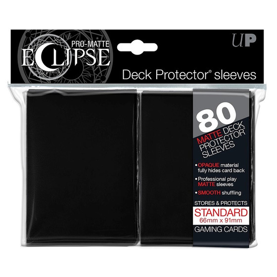 Ultra Pro Eclipse Pro Matte Black - 80 Sleeves