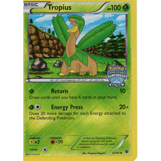 Tropius - 5/101 National Promo - Holo