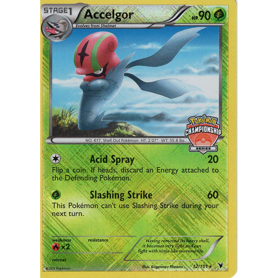 Accelgor - 12/101 Championship Series Promo - Holo
