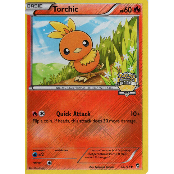 Torchic - 12/111 City Championships Promo - Holo
