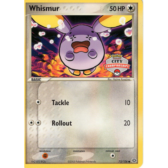 Whismur - 73/106 City Championship - Promo