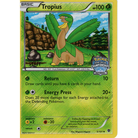 Tropius - 5/101 National STAFF Promo - Holo