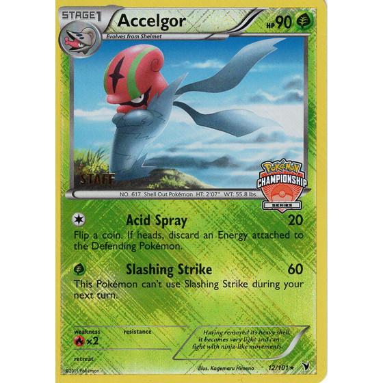 Accelgor - 12/101 Championship Series STAFF Promo - Holo