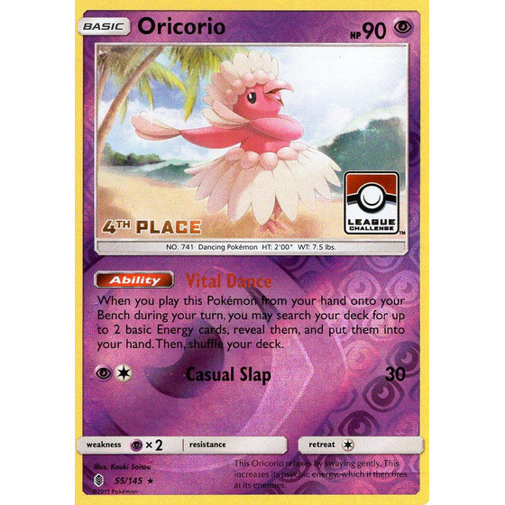 Oricorio - 55/145 League Challenge 4th Place - Holo