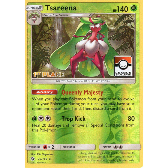 Tsareena - 20/149 League Challenge 1st Place - Holo