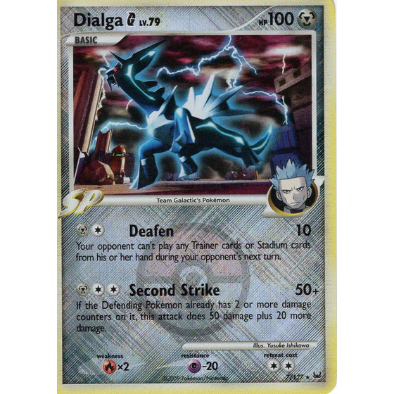 Dialga G - 7/127 League Promo - Holo
