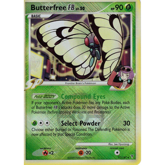 Butterfree FB - 17/147 League Promo - Holo