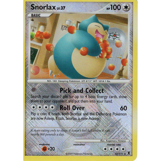 Snorlax - 33/111 League Promo - Holo
