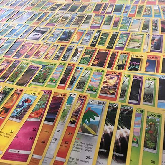 100 German Pokemon Cards Lot - No Duplicates