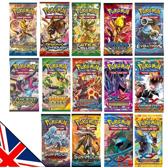 5x English Booster from XY-/SM-Sets SPECIAL OFFER!