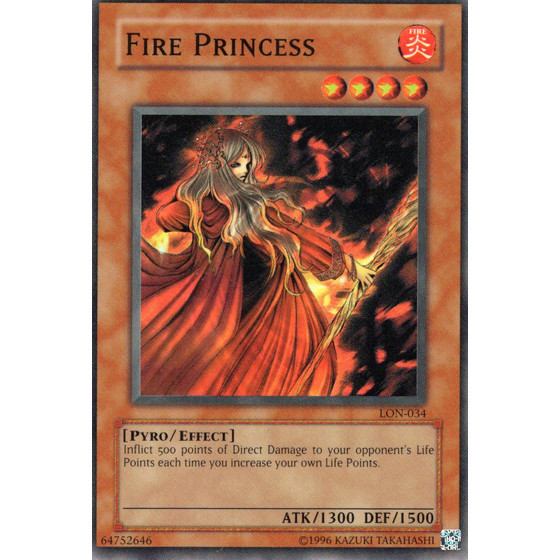 Fire Princess - LON-E034 - Super Rare