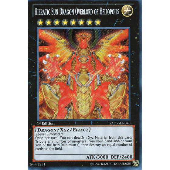 Hieratic Sun Dragon Overlord of Heliopolis - GAOV-EN048 -...
