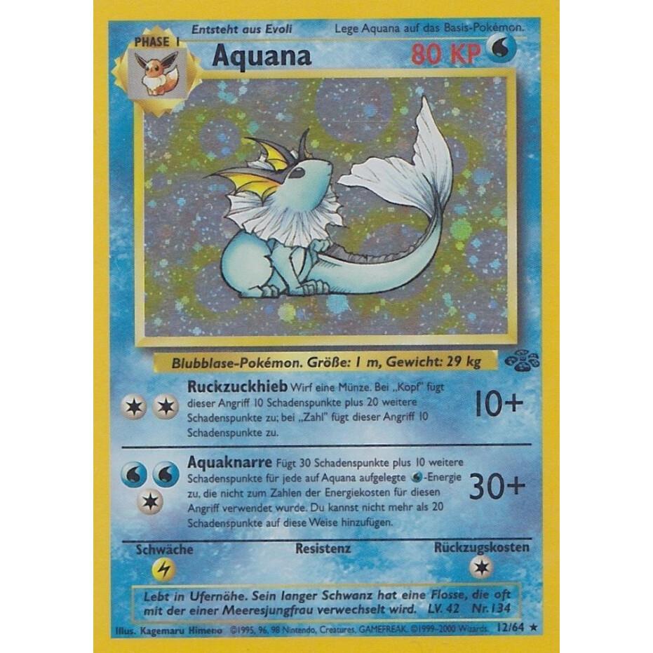 AQUANA 12//64 JUNGLE HOLO Pokemon Karte