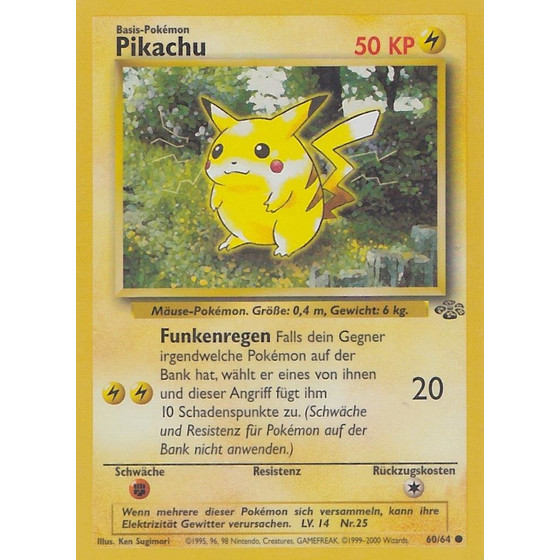 Pikachu - 60/64 - Common