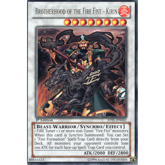 Brotherhood of the Fire Fist - Kirin - JOTL-EN042 - Rare