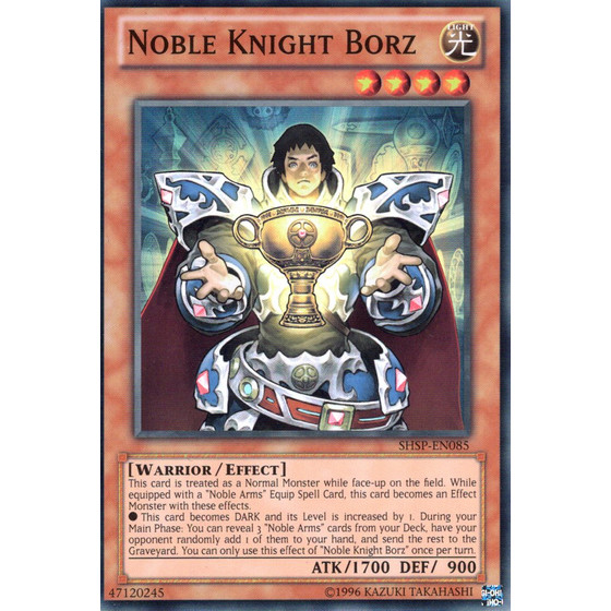Noble Knight Borz - SHSP-EN085 - Super Rare