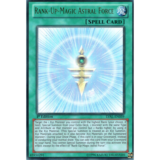 Rank-Up-Magic Astral Force - LVAL-EN059 - Ultra Rare