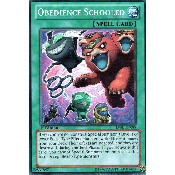 Obedience Schooled - LVAL-EN088 - Super Rare