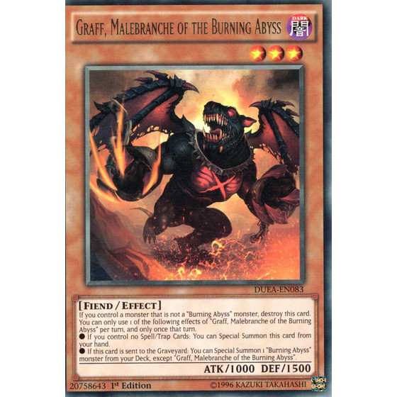 Graff, Malebranche of the Burning Abyss - DUEA-EN083 - Rare