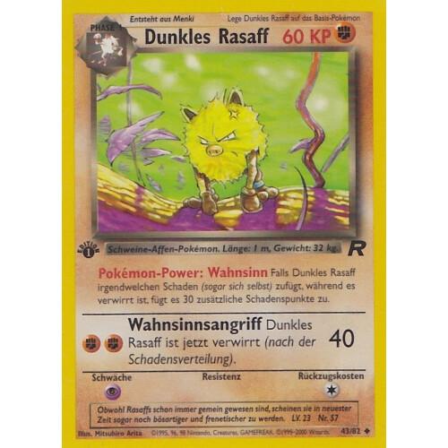 Mint 1.Edition Deutsch Team Rocket Dunkles Rasaff 43//82 Uncommon