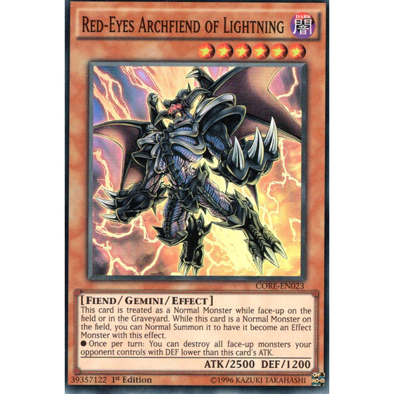 Red-Eyes Archfiend of Lightning - CORE-EN023 - Super Rare