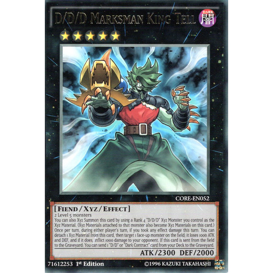 D/D/D Marksman King Tell - CORE-EN052 - Rare
