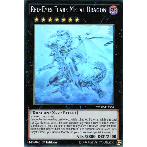 Red-Eyes Flare Metal Dragon - CORE-EN054 - Ghost Rare