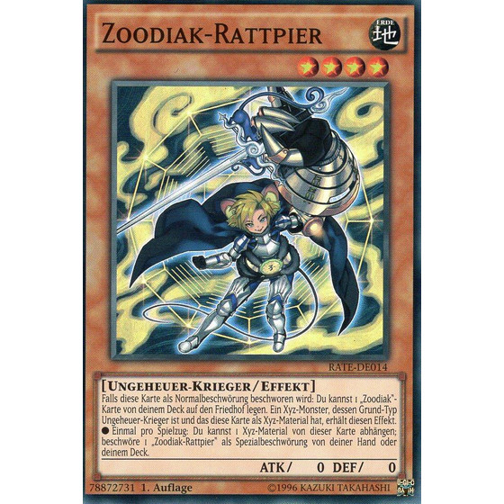 Zoodiak-Rattpier - RATE-DE014 - Super Rare